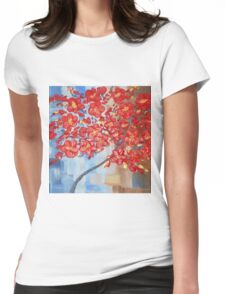 the red tree Womens Fitted T-Shirt