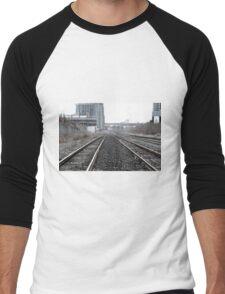 Train tracks Men's Baseball ¾ T-Shirt