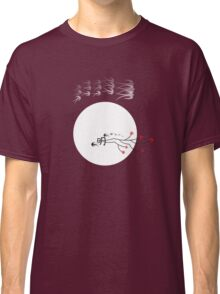 Oriental Swallows And The Bright Round Moon Classic T-Shirt