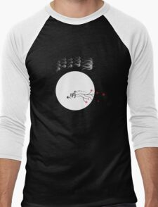 Oriental Swallows And The Bright Round Moon Men's Baseball ¾ T-Shirt