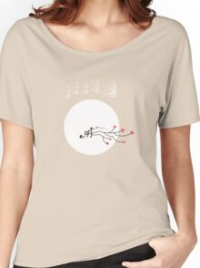 Oriental Swallows And The Bright Round Moon Women's Relaxed Fit T-Shirt
