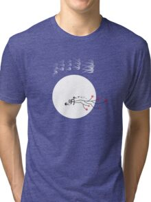 Oriental Swallows And The Bright Round Moon Tri-blend T-Shirt