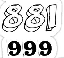 New Emergency Number- IT Crowd Sticker