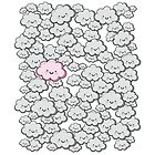 Kawaii Grey Little Clouds by MaShusik