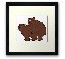 Brickleberry - Bearlove Framed Print