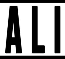 'Reality' Advisory T-Shirt Sticker