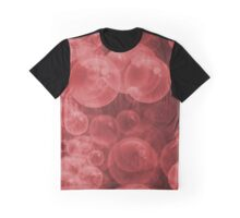 Large Red Water Air Bubbles  Graphic T-Shirt