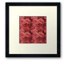 Small Red Water Air Bubbles  Framed Print