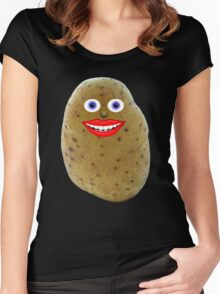 Funny Potato Character Women's Fitted Scoop T-Shirt