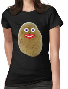 Funny Potato Character Womens Fitted T-Shirt