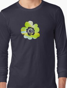 In Between Green, Yellow and Blue - JUSTART ©  Long Sleeve T-Shirt
