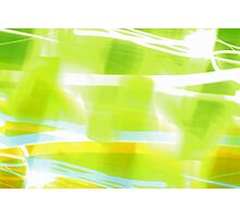 In Between Green, Yellow and Blue - JUSTART ©  Photographic Print
