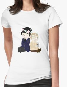 John and Sherlock Flower Crown (no background) Womens Fitted T-Shirt