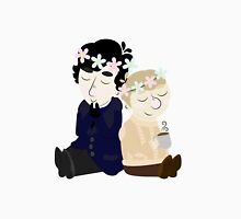 John and Sherlock Flower Crown (no background) Unisex T-Shirt