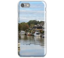 Fairport Viewed from the Canal Bridge iPhone Case/Skin