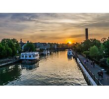 Sunset in Fairport Photographic Print