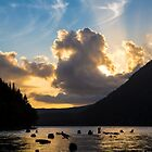 Sunset over Spada Lake by Jim Stiles