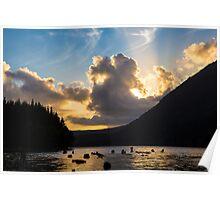 Sunset over Spada Lake Poster