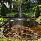 Backyard Oasis Symmetry - Gracious Garden Fountain by Georgia Mizuleva