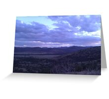 Cloudy West Texas Greeting Card
