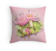Water lily - nymphaeaceae Throw Pillow