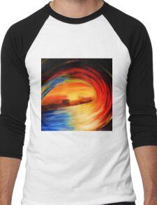 colour wheel Men's Baseball ¾ T-Shirt