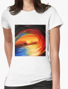 colour wheel Womens Fitted T-Shirt
