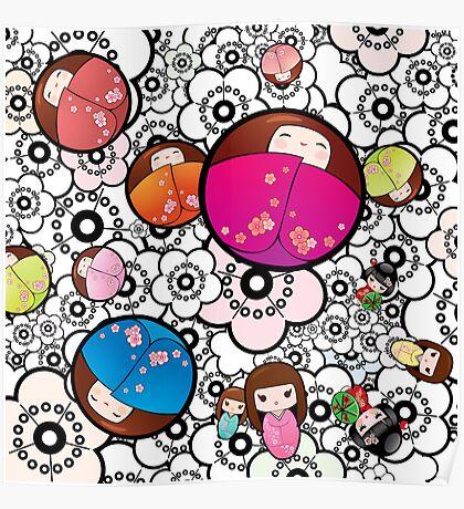 Kokeshi dolls Poster