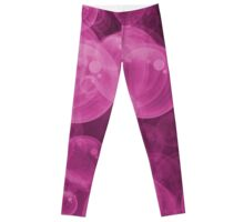 Small Hot Neon Pink Water Air Bubbles Leggings