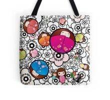 Kokeshi dolls Tote Bag