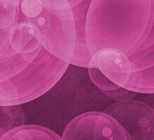 Small Hot Neon Pink Bubbles Sticker