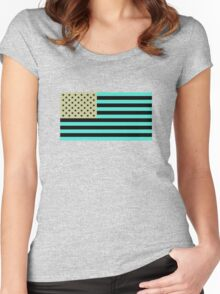 USA flag inverted color Women's Fitted Scoop T-Shirt