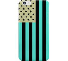 USA flag inverted color iPhone Case/Skin