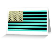 USA flag inverted color Greeting Card