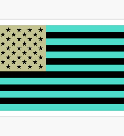 USA flag inverted color Sticker