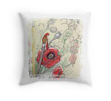 An Artist's Bouquet by Shell-Rose Creations Throw Pillow