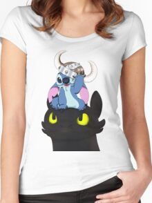 Stitch Viking Style Women's Fitted Scoop T-Shirt