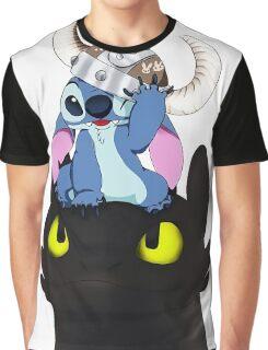 Stitch Viking Style Graphic T-Shirt