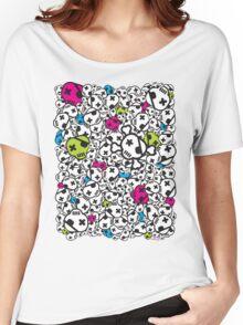 Funky Skulls Women's Relaxed Fit T-Shirt