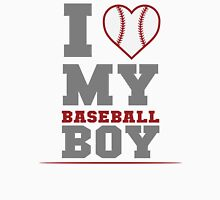 I Love My Baseball Boy Women's Fitted Scoop T-Shirt