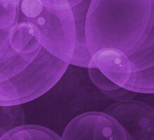 Large Hot Purple Bubbles Sticker