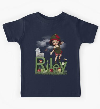 Apple - Kids Tshirt Art with Custom Name Kids Tee
