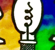 Twenty One Pilots Self Titled Rainbow Lightbulb Sticker
