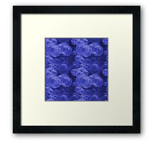 Small Royal Blue Purple Water Air Bubbles Framed Print