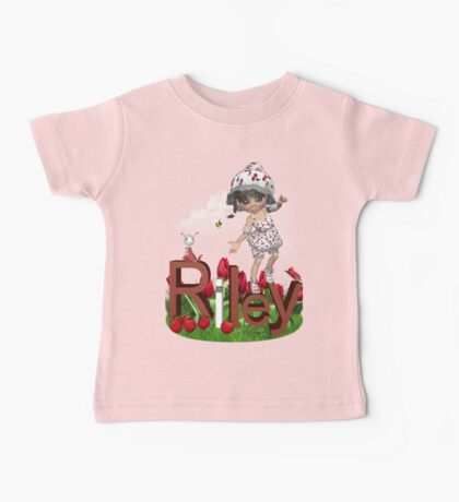 Strawberry - Kids  Art with Custom Name Baby Tee
