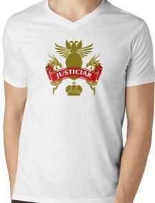 The Justiciar Coat-of-Arms    Mens V-Neck T-Shirt