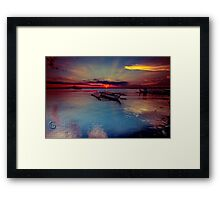 Manila Bay sunset Framed Print