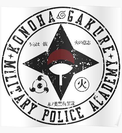 konoha police military Poster