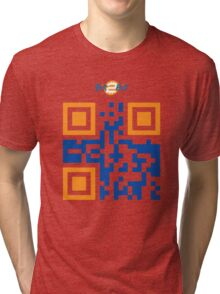 Bit2Bit.co QR Code Tri-blend T-Shirt