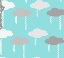 Washington State Rain Clouds Pattern Sticker